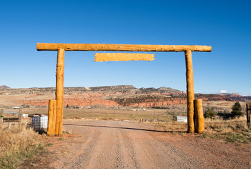 Ranch Entrance Gate Country Farm Marquee