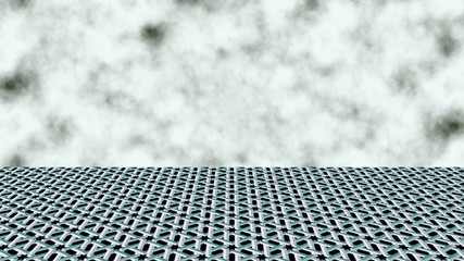 The horizon line. Clouds in the sky. 3D textura.