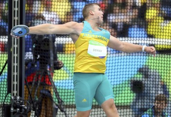 Athletics - Men's Discus Throw Qualifying Round - Group B