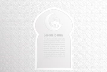 islamic banner vector on white abstract background.illustration EPS10.