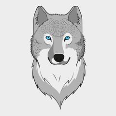 Wolf art. Vector.