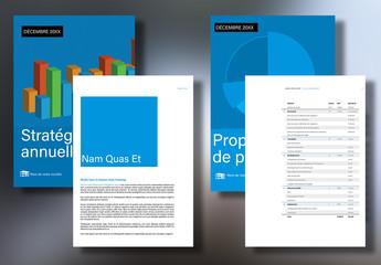 Modèle de rapport d'entreprise et de proposition commerciale
