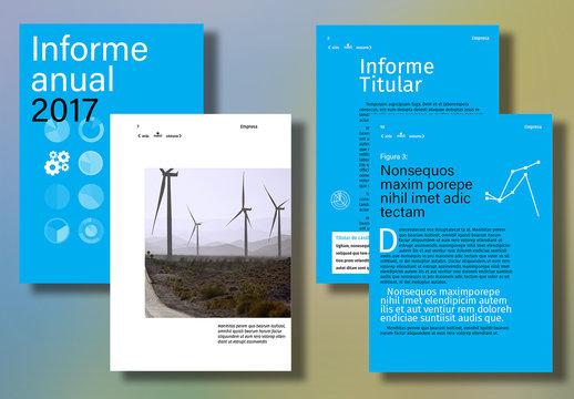 Diseño de informe anual interactivo