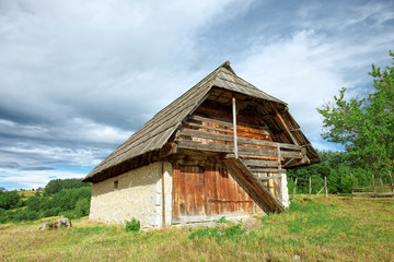 Traditional Wooden House In Montenegro