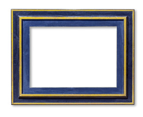 blue wood picture frame