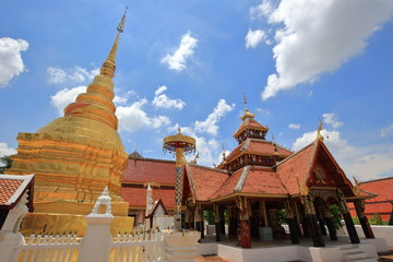 wat pong sanuk nua, buddhist temple in lampang, north of thailand