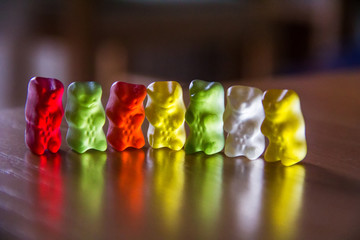 Colorful candies gummy bear