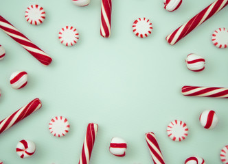 Peppermint Background with Space to Write