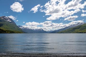 Roca Lake at Tierra del Fuego National Park in Patagonia - Ushuaia, Tierra del Fuego, Argentina
