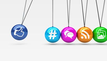 Social Media Web Icons Concept