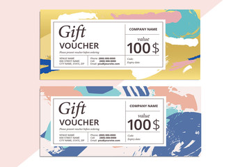 Patterned Gift Voucher Layout 1