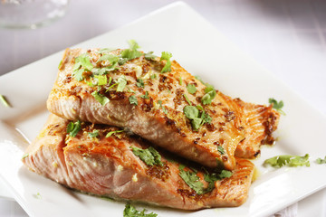 sweet coriander salmon