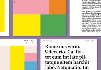 Modèle créatif de magazine numérique