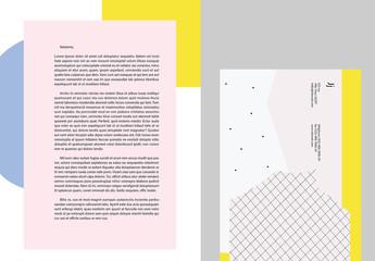 Modèles de papier à lettre colorés