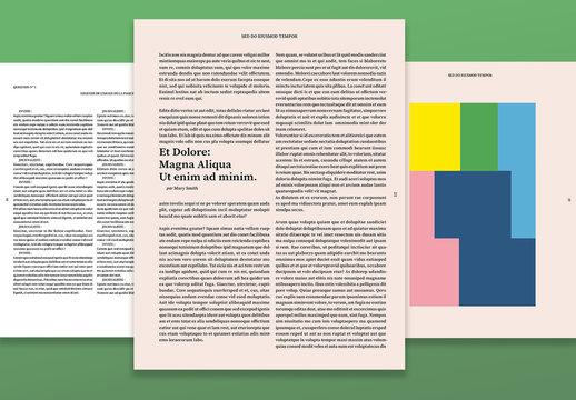 Modèle de magazine artistique ou culturel