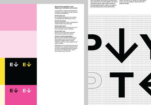 Modèle de guide de style complet d'image de marque