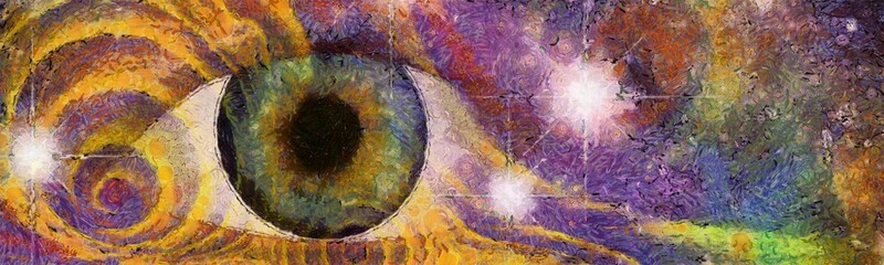 Hallucinagenic Style Eye and Pattern