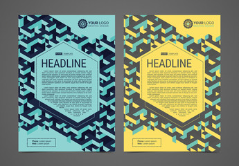 Multipurpose Flyer Layout with Isometric Elements 1