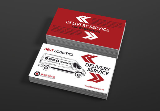 Delivery Service Business Card Layouts