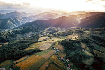 Mountains around Zepce in Bosnia