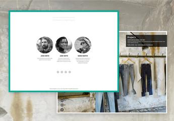 Modèle de portfolio interactif en mosaïque