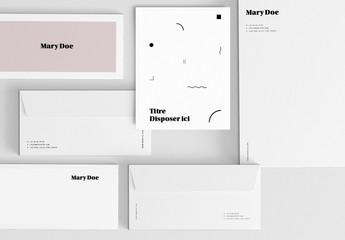 Modèles de papier à lettre modernes