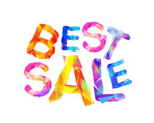 Best sale. Vector inscription