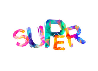 "Word ""SUPER"". Vector sign"