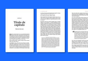 Diseño clásico de libro para publicaciones electrónicas
