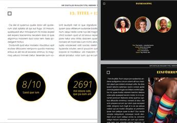 Layout für digitale Kunstzeitschrift