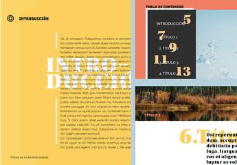 Diseño de revista digital de aventuras