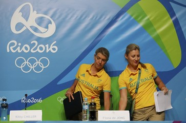Kitty Chiller and Fiona de Jong give a press conference in Rio de Janeiro
