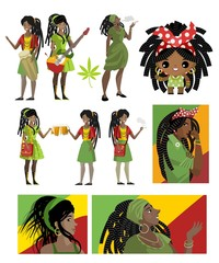 african dreadlocks rastafarian girls