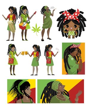 african dreadlocks rastafarian girls