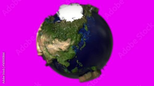 Earth miniature mini tiny globe small dof micro world model marble
