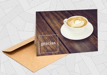 Diseño de tarjeta de agradecimiento