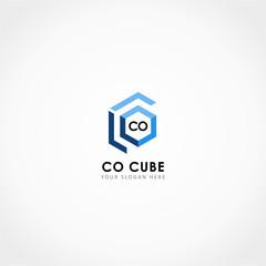 Leter C Leter O Logo, Cube Logo