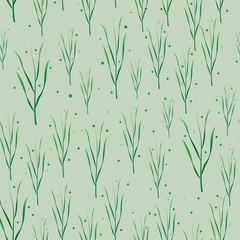 Grass vector seamless pattern