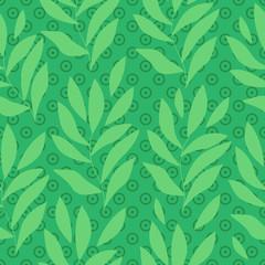 Leaf vector seamless pattern
