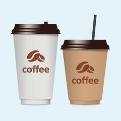Paper cup. Coffee. Vector illustration