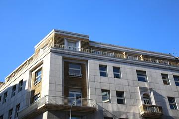 Modern stone facade in Milan