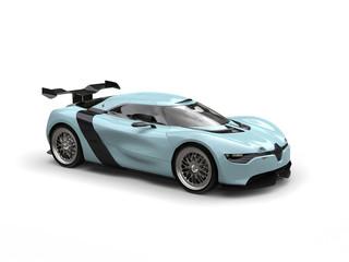 Super sports car - waterspout blue color