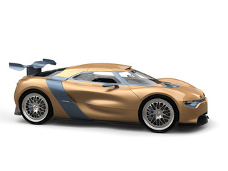 Gold leaf painted modern super sports car