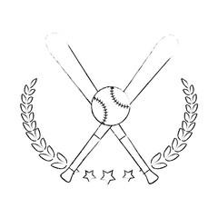 Baseball sport game icon vector illustrationgraphic design