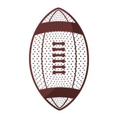 American football sport icon vector illustration graphic design