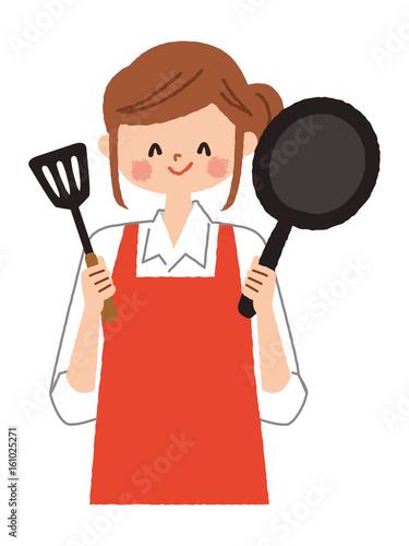 女性 料理 イラストfotoliacom の ストック画像とロイヤリティフリーの