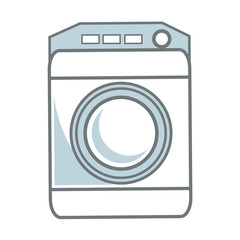 washing machine icon home appliance symbol vector illustration
