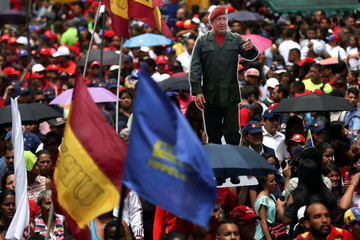 Supporters of Venezuelan President Nicolas Maduro attend a rally in support of his government and to the National Constituent Assembly in Caracas