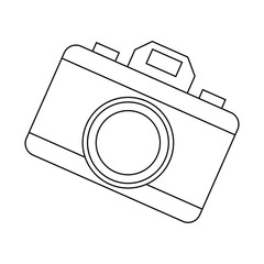 photo camera device picture lens flash icon vector illustration