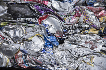 Crushed aluminum can abstraction
